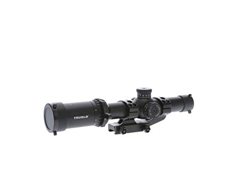 TRUGLO TG8518TLR Omnia 1-8X24 30Mm Ir Tactical Scope W/Mount, Black, One Size