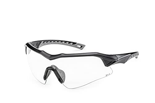 Solid. perfect-fitting Shooting Glasses with Ballistic Impact Protection | Shooting eye protection with polarized Yellow Lenses | Anti-Fog, Scratch-Resistant and UV-Protective glasses| For Men & Women