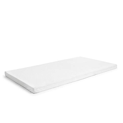 Milliard 2-Inch Ventilated Memory Foam Crib and Toddler Bed Mattress Topper with Removable Waterproof 65-Percent Cotton Non-Slip Cover - 52' x 27' x 2'