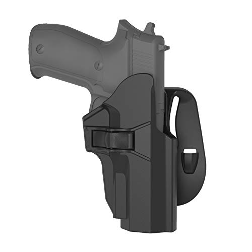 OWB Paddle Holster for Sig Sauer P226 Full Size, Right-Handed Gun Holster for Sig Sauer P226 9mm/.40, 60° Adjustable Open Carry Pistol Holsters with Index Finger Release , Right Handed