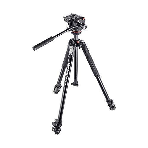 Manfrotto MK190X3-2W Aluminum 3-Section Tripod Kit with XPRO Fluid Head ,Black