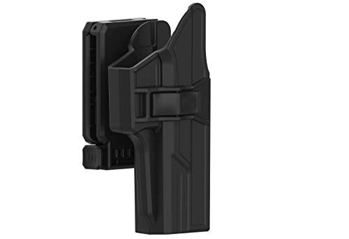 Holster for Glock 17 22 31 (Gen 1-4), 360° Adjustable Tactical Outside Waistband Open Carry Belt Holster Fit G17 G22 G31 with Rapid Release, OWB Carry, Right-Handed