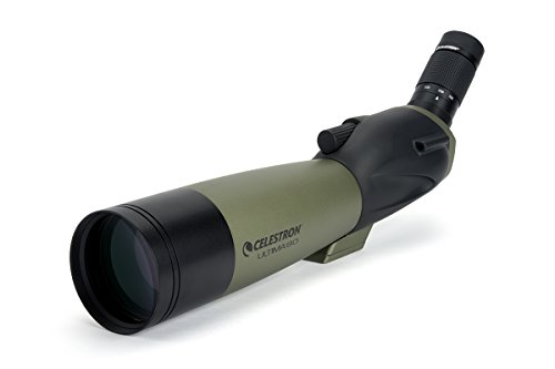 Celestron – Ultima 80 Angled Spotting Scope – 20 to 60x80mm Zoom Eyepiece – Multi-Coated Optics for Bird Watching, Wildlife, Scenery and Hunting – Waterproof and Fogproof – Includes Soft Carrying Case