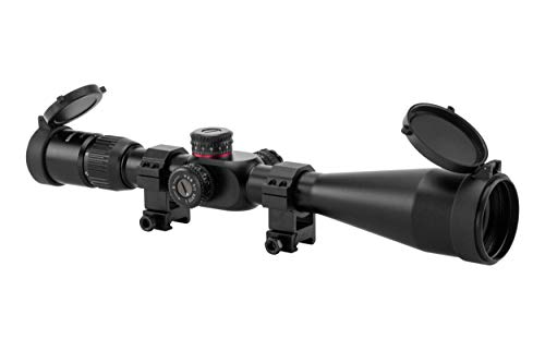 Monstrum G2 6-24x50 First Focal Plane FFP Rifle Scope with Illuminated Rangefinder Reticle and Parallax Adjustment | Black