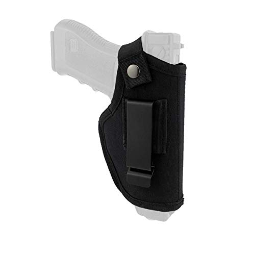 Concealed Carry Gun Holster (Black) Inside or Outside The Waistband,Universal Holster for Men/Women for Right/Left Hand Draw Fits S&W, M&P Shield/Glock 23,36,39,42,43/Ruger LC 9, Similar Handgun