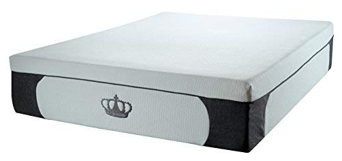 DynastyMattress New! 14.5-Inch CoolBreeze Plush Gel Memory Foam Mattress w/Free Pillows (Split-King)
