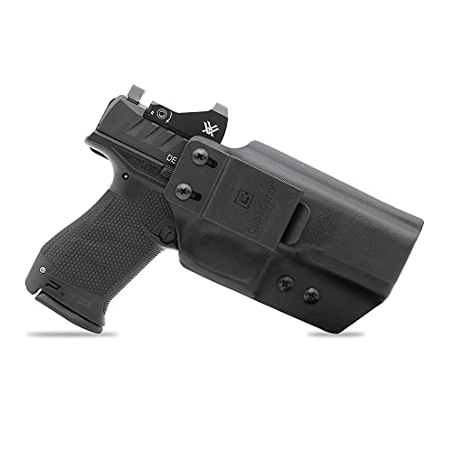 """Clip & Carry IWB Kydex Holster for The Walther PDP Full Size 4.5"""" - Inside Waistband Concealed Carry - Audible Click Retention - Adjus. Cant - Claw Compatible - USA Veteran Made"""