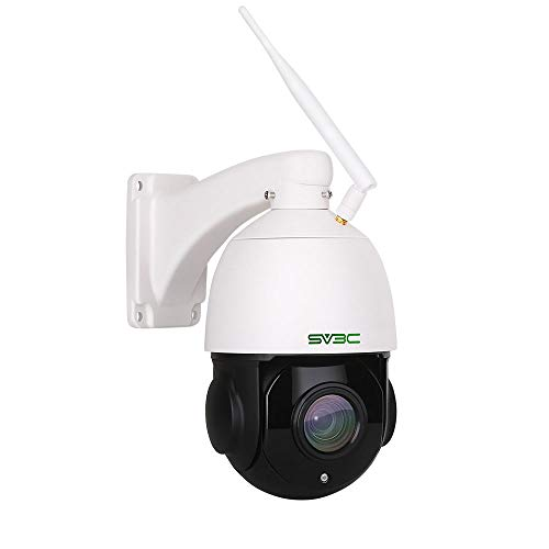 SV3C 1080P PTZ Security Camera Outdoor, Pan Tilt with 18X Optical Zoom, WiFi Wireless IP Dome Surveillance CCTV Camera, 196ft IR Night Vision, Two-Way Audio, IP66 Waterproof, Built-in Sd Slot