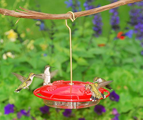 Aspects 367 Hummzinger Ultra Hummingbird Feeder, 12-Ounce,4 Feeding,Red