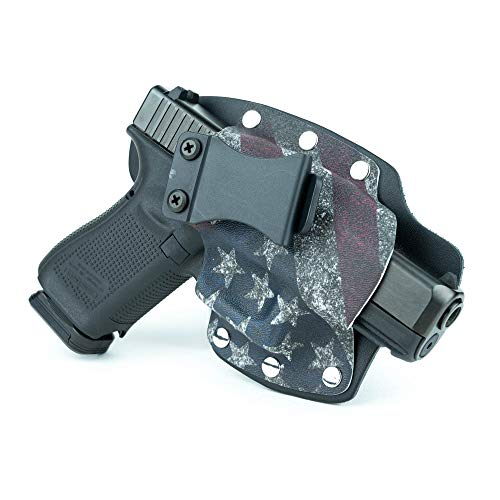 Infused Kydex USA Slanted Flag IWB Hybrid Concealed Carry Holster (Right-Hand, for Beretta Nano)