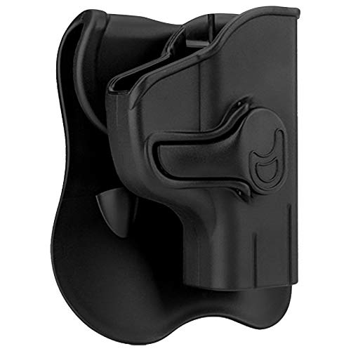 Ruger EC9s Holsters, OWB Holster for Ruger LC9 LC9s LC380 EC9 EC9s 3.12' - Index Finger Released | Adjustable Cant | Autolock | Outside Waistband Carry | Lightweight -Right Handed