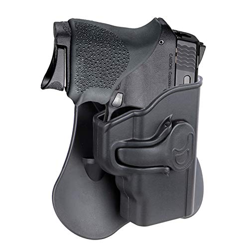 Gun Holster for Smith & Wesson M&P Bodyguard 380 with Red Laser(Not Green Laser Model), OWB Paddle Holster, Tactical Holster, Adjustable Cant & Fast Release - Right Handed