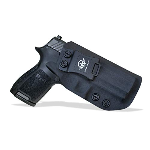 Sig P320 Holster IWB Kydex for Sig Sauer P320 Full Size / P320 Carry / P320 Compact Medium Pistol Case - Inside Waistband Carry Concealed Holster Sig Sauer P320 Gun Accessories (Black, Right)