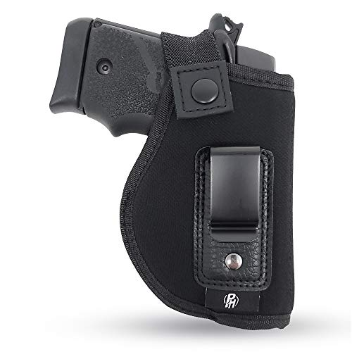 IWB Gun Holster by PH - Concealed Carry Soft Material | Soft Interior | Fits Most Small 380, Keltec, Sig P238, S&W Bodyguard .380 | Remington RM .380 | Ruger TCP | Seecamp LWS32 LWS38 (Right)