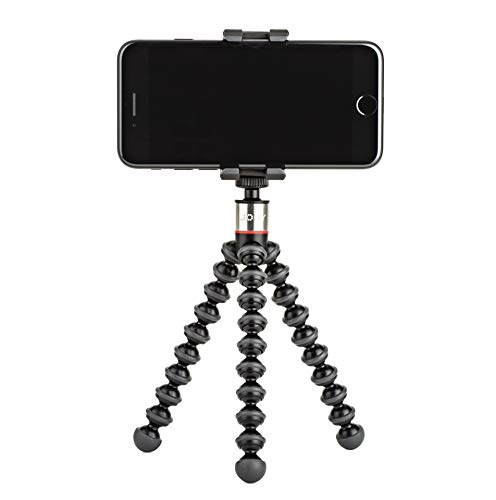 Joby GripTight ONE GorillaPod Stand: Flexible Tripod and Mount for Smartphones from iPhone SE to iPhone 8 Plus, Google Pixel, Samsung Galaxy S8 and More, Black (JB01491)