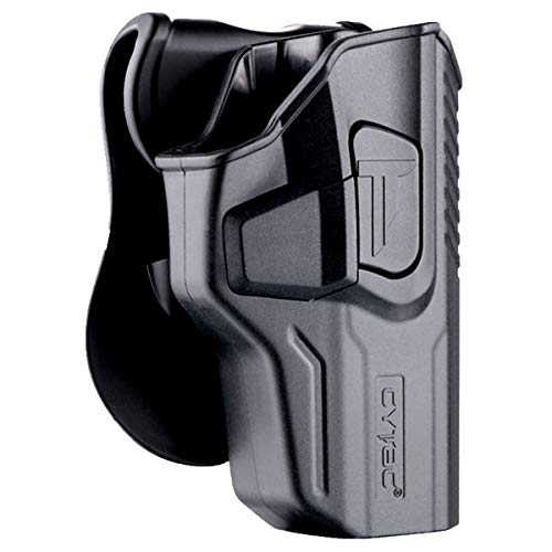 Walther PPQ Holsters, OWB Holster for Walther PPQ M2 4' / PPQ M1 4' / PPQ M2 SC - Index Finger Released | Adjustable Cant | Autolock | Outside Waistband Carry | Silicone Pad Paddle | Matte Finish -RH