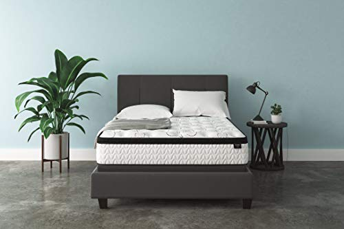 Signature Design by Ashley Chime 12 Inch Plush Hybrid Mattress - CertiPUR-US Certified Foam, Queen