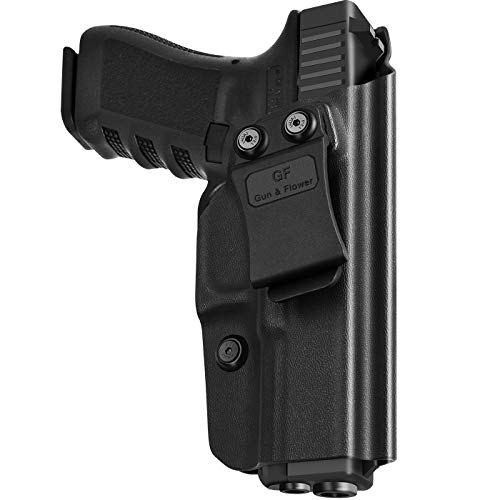 KYDEX IWB Holster Compatible with G19 | G17 | G26 | G19x |G31 32 33 45(Gen 3 4 5) Concealed Carry Holster Gun 9mm for Men/Women--Adj.Cant Retention