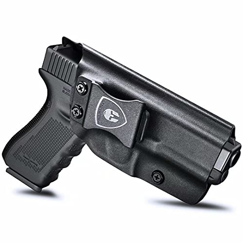 Compatible with Glock 19 Holster, IWB Kydex Holster Fit: Glock 17 Glock 19 19X Glock 26 32 Glock 44 Glock 45 Gen (1-5) Pistol, Inside Waistband Holster Condealed Carry, Adj. Cant & Retention, Right