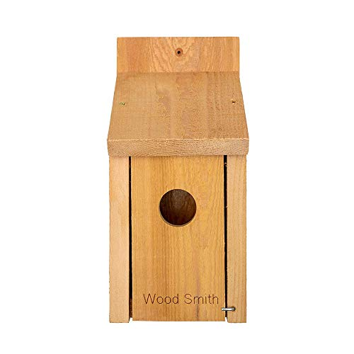 Bird House - Bluebird, Finch, Wren, Chickadee, Tree Swallow Bird, Wild Birds, Even a Woodpecker House. Made in USA from All Natural Western Red Cedar. Add Some Life to Your Yard Today!