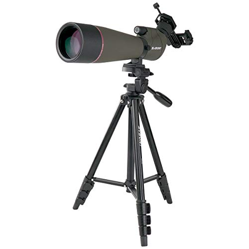 SVBONY SV13 spotting scope with tripod,20-60x80mm,for Hunting,IPX7 High Power Waterproof ,with Phone Adapter,for Bird Watching,Wildlife Viewing,Shooting Range Practice,with Soft Case