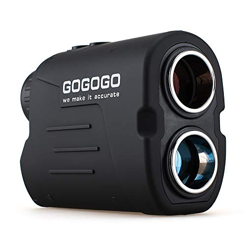 Gogogo Sport Vpro Laser Golf/Hunting Rangefinder, 6X Magnification Clear View 650/900 Yards Laser Range Finder, Accurate, Slope Function, Pin-Seeker & Flag-Lock & Vibration, Easy-to-Use Range Finder