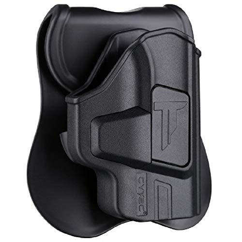 Bodyguard 380 Holsters, OWB Holster for S&W M&P Bodyguard 380 with Integrated Crimson Trace Laser / No Laser - Index Finger Released | Adjustable Cant | Autolock | Outside Waistband | Matte Finish -RH