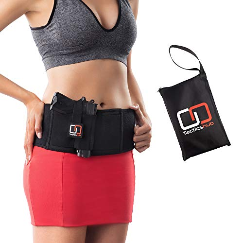 Tacticshub Belly Band Holster for Concealed Carry – Gun Holster for Women and Men That fits Glock, Smith Wesson, Taurus, Ruger, and More - Waistband Holster for Pistols and Revolvers - XS, S, M, L