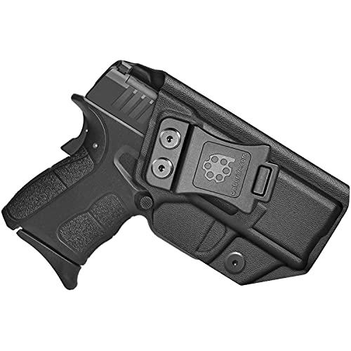 Amberide IWB KYDEX Holster Fit: Springfield XD-S 3.3' & XD-S MOD.2 3.3' Pistol | Inside Waistband | Adjustable Cant | US KYDEX Made (Black, Right Hand Draw (IWB))