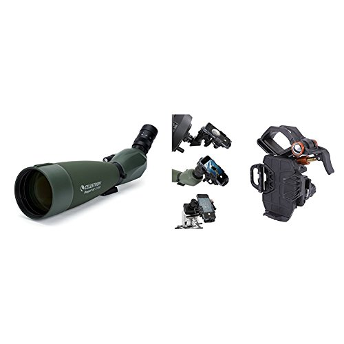 Celestron Regal M2 100ED Spotting Scope with Smartphone Adapter – Fully Multi-Coated Optics – Hunting Gear – ED Objective Lens for Bird Watching, Hunting and Digiscoping – Dual Focus – 22-67x Zoom Eyepiece