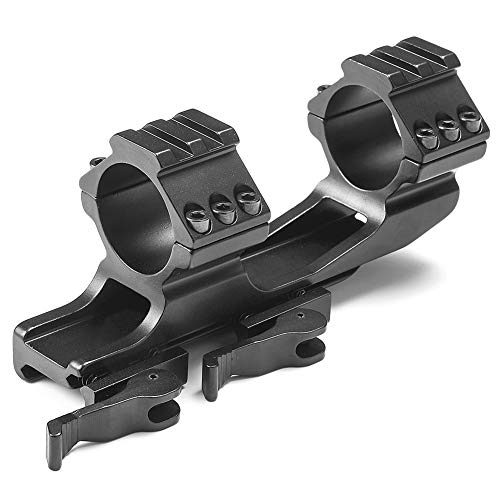 Fidragon Rifle Scope Mount 1' 25.4mm/30mm Quick Release Cantilever for Picatinny Rail Dual Ring Black