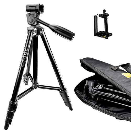 iPhone Tripod, Camera Tripod, Spotting Scope Tripod | Ballachy 56-Inch Tripod with Bag