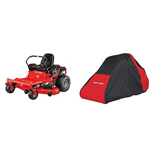 Craftsman Z560 24 HP Briggs & Stratton Platinum 54-Inch Gas Powered Zero Turn Riding Lawn Mower with ReadyStart and Lawn Mower Cover, Large