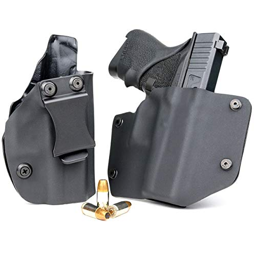 R&R Holsters OWB & IWB Combo Pack - Black (Left-Hand, Ruger LC9, LC380, EC9s)
