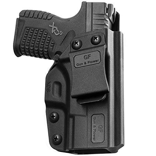 IWB Holster Compatible with Springfield XD-S 3.3' 9mm/ .40S&W/ .45ACP, Polymer Inside Waistband Holster Fits Springfield XD-S Concealed Carry Gun Holster   Adj. Cant&Retention