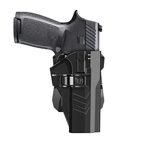 HQDA CZ 75 SP-01 Shadow Holster with 360°Adjustable Cant Tactical Outside Waistband Polymer Paddle Holder CZ SP01 Pistol Carry OWB Holster, Handgun Duty Belt Case Right Handed
