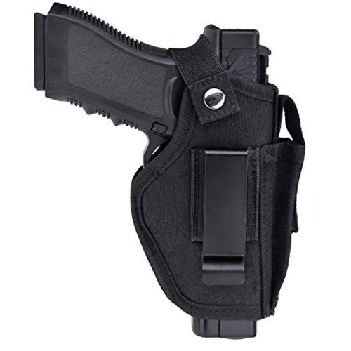 MUSVIKY Universal IWB Holster for Concealed Carry, Inside The Waistband Gun Holsters for Pistols Glock 43 42 39 26 23 S&W M&P Shield 9/40 1911 Sig Sauer, Handguns Holster Right Left Hand Draw