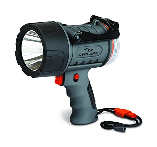 Cyclops 300 Lumen Rechargeable Waterproof Spotlight, Black
