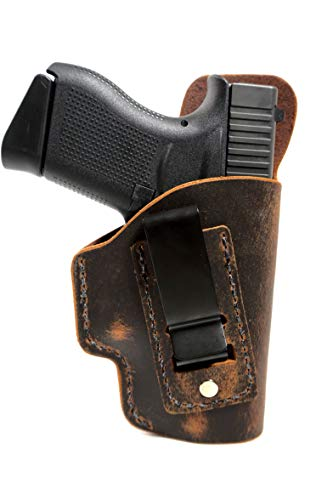 Muddy River Tactical Springfield Armory XDS 3.3 - Soft Sided Leather Inside The Waistband (IWB) Concealed Carry Holster- IWB Holster (Right Handed)