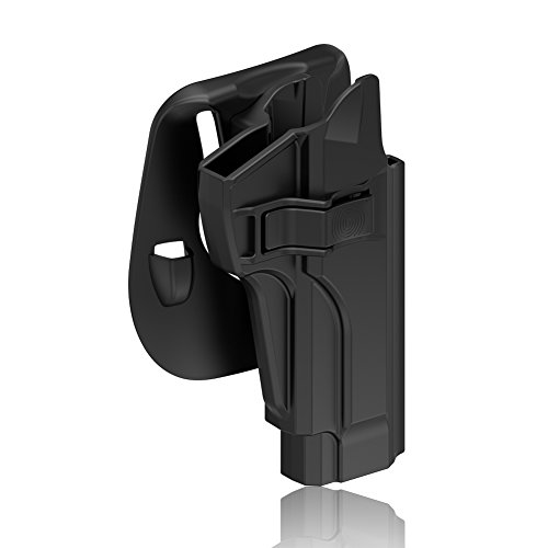 OWB Holster for Beretta 92 92FS 92S 92G M9 M9_22, Tactical Outside Waistband Open Carry Paddle Belt Holster with Release Button 60° Adjustable Cant, Right-Handed