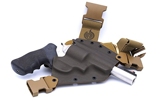 GunfightersINC Kenai Chest Holster for Ruger Redhawk/Super Redhawk, MAS Grey/Coyote, Right Hand