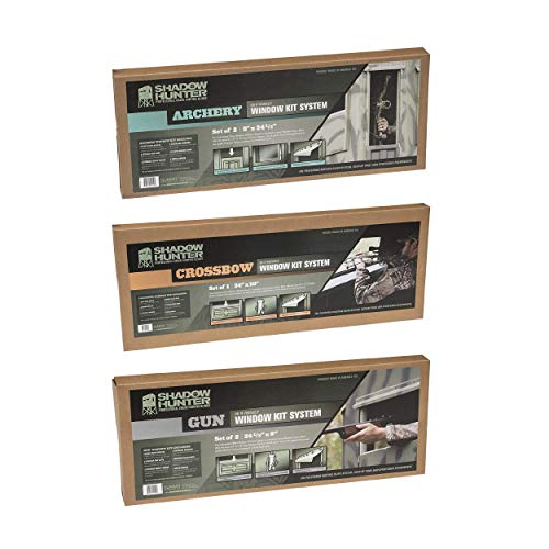 SHADOW HUNTER Gun, Archery, and Crossbow Window Kit System for Deer Hunting Blinds, 5 Piece Set