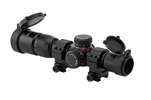 Monstrum G2 1-4x24 First Focal Plane FFP Rifle Scope with Illuminated BDC Reticle | Black