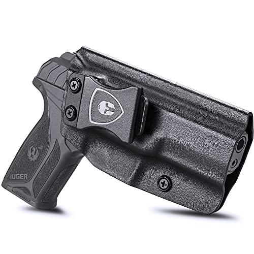 Ruger Security 9mm Holster, IWB Kydex Holster Fit: Ruger Security 9/Compact Pistol, Comfortable Inside Waistband Concealed Carry Holster, Adjustable Cant&Retention, Over-Cut Open-Face, Right Hand