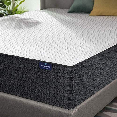 Twin Mattress, Inofia Twin Size Mattress- 12 Inch High Resilience Memory Foam Double Mattress for Pressure Relief & Cooler Sleeping, Medium Firm Feel, in a Box, 100-Night Trial