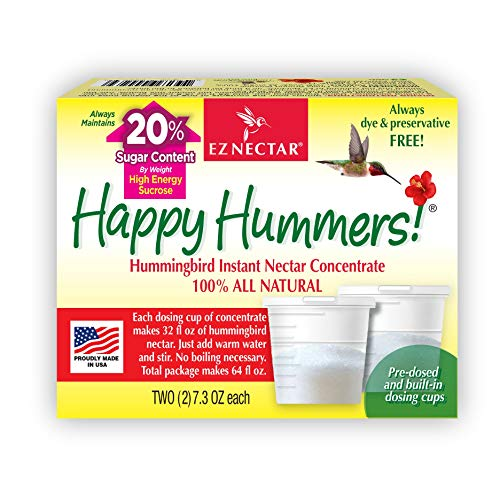 EZNectar All-Natural Hummingbird Nectar Concentrate Powder, 14.6 Ounce (Total Content Makes 64 FL OZ of Hummingbird Nectar)