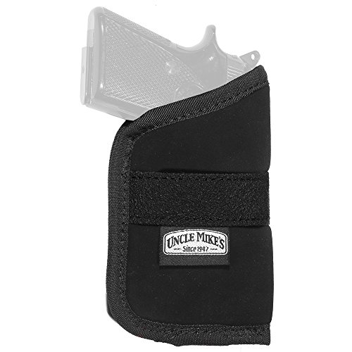 Uncle Mike's Off-Duty and Concealment Nylon OT Inside-The-Pocket Holster (Size 4, Black)