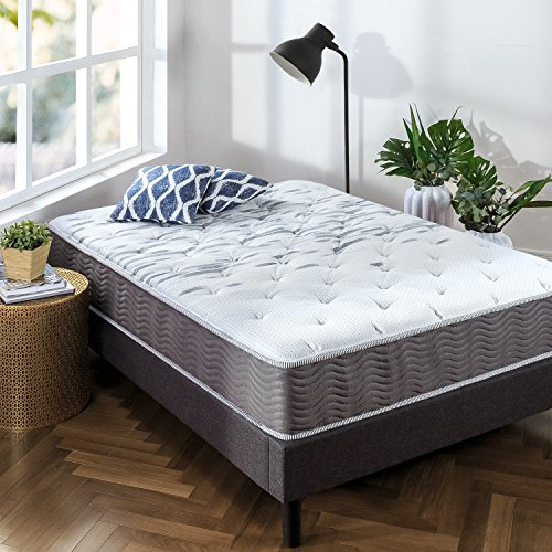 Zinus 10 Inch Support Plus Pocket Spring Hybrid Mattress / Extra Firm Feel / More Coils for Durable Support / Pocket Innersprings for Motion Isolation / Bed-in-a-Box, Queen