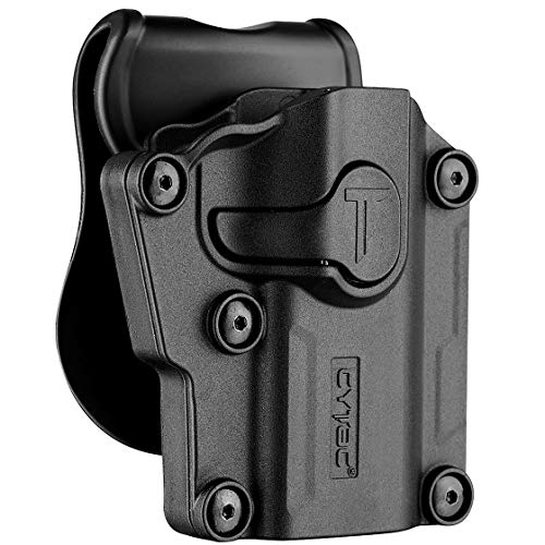 Universal OWB Holster for Berreta APX/CZ 75 / Ruger Security9 - Compact & Full Size Pistol Carrier | Index Finger Released | Adjustable Cant | Autolock | Outside Waistband | Matte Finish Black -RH