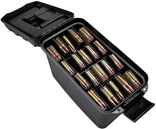 Case Club x20 Rifle Magazine Storage Box (5.56/.223) Water-Resistant with Extra Storage Compartment